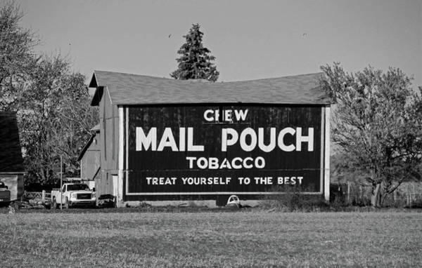 Mail Pouch Tobacco In Black And White Art Print