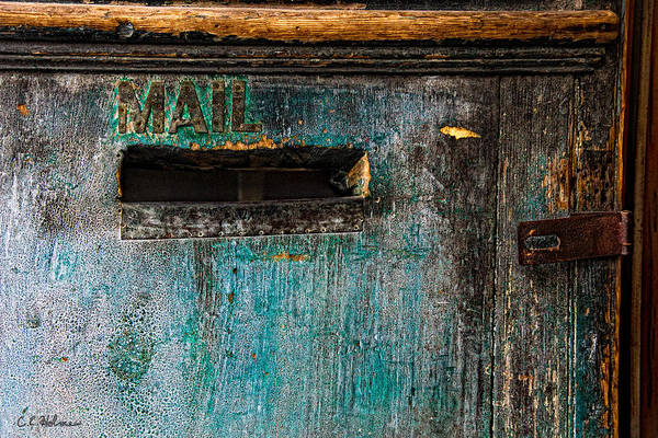 Photograph - Mail Slot by Christopher Holmes