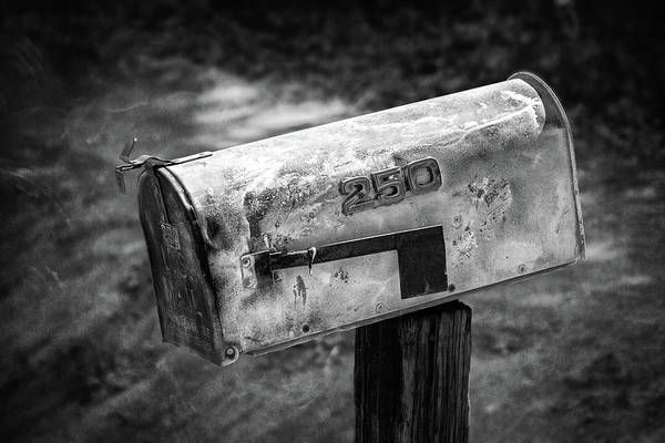 Wall Art - Photograph - Mailbox 250 El Camino Drive In Bw by YoPedro
