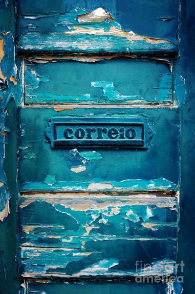 Mail Slot Photograph - Mailbox Blue by Carlos Caetano