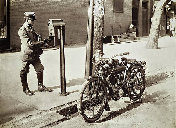 Photograph - Mailman And Motorcycle by Carlos Diaz