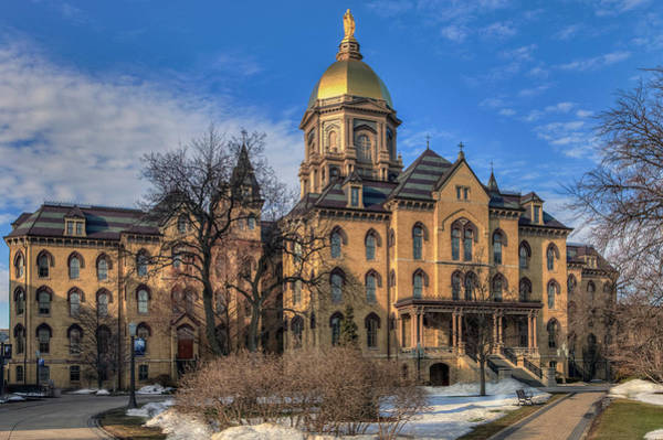 Photograph - Main Building At Notre Dame by Jerry Gammon