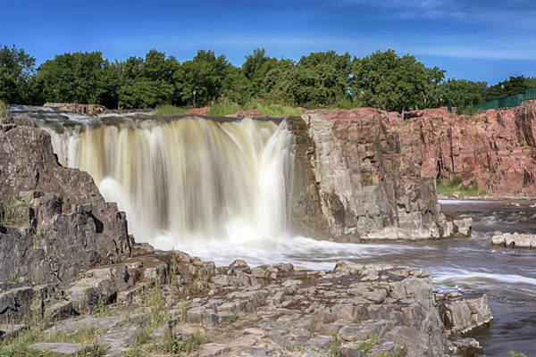 Photograph - Main Falls Of The Sioux Falls by Susan Rissi Tregoning
