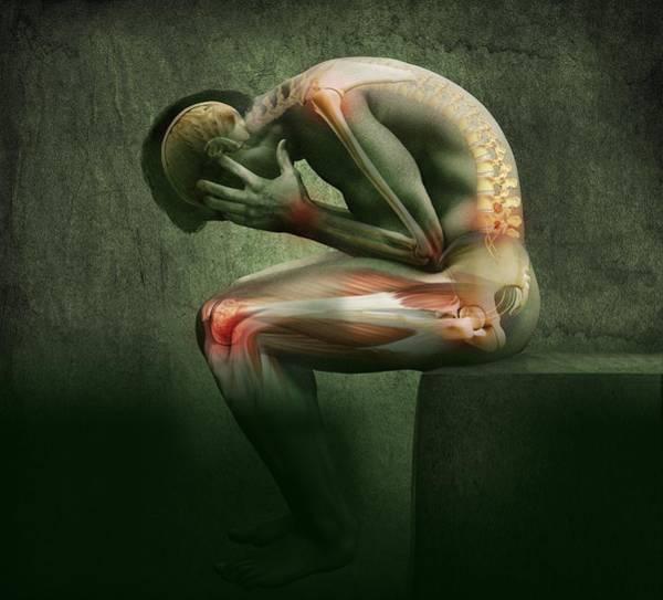 Wall Art - Photograph - Main In Pain, Artwork by Claus Lunau