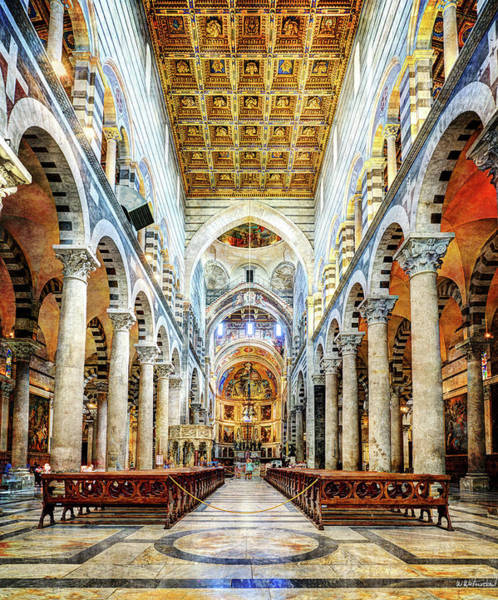 Pantocrator Photograph - Main Nave Of The Cathedral Of Pisa by Weston Westmoreland