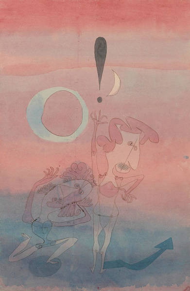 Painting - Main Scene From The Ballet The False Oath by Paul Klee