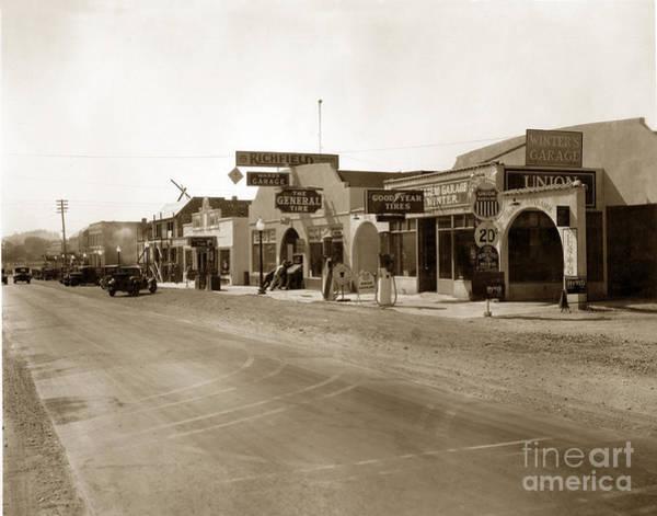 Photograph - Main Street Atascadero California Circa 1925 by California Views Archives Mr Pat Hathaway Archives