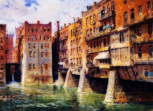 Wall Art - Painting - Main Street Bridge, Rochester by Colin Cooper