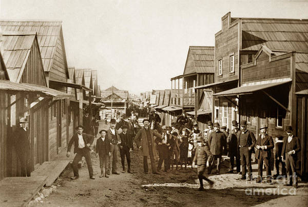 Photograph - Main Street Chinaton Pacific Grove Looking Northwest Circa 1904 by California Views Archives Mr Pat Hathaway Archives