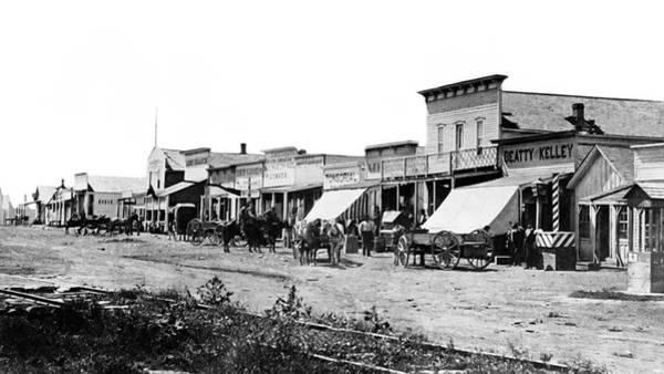 Wall Art - Photograph - Main Street - Dodge City Kansas C. 1879 by Daniel Hagerman
