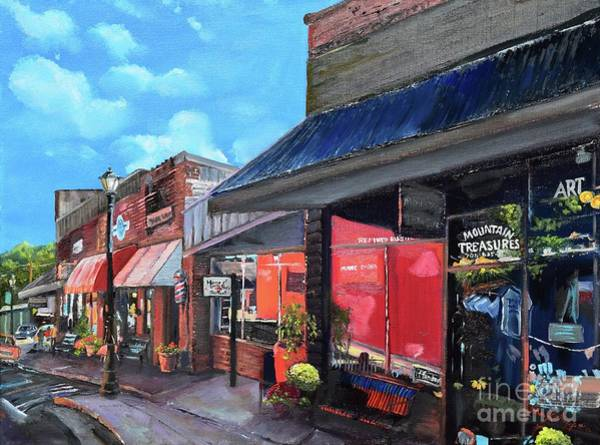 Painting - Main Street Ellijay - Mountain Treasures - On The Square by Jan Dappen