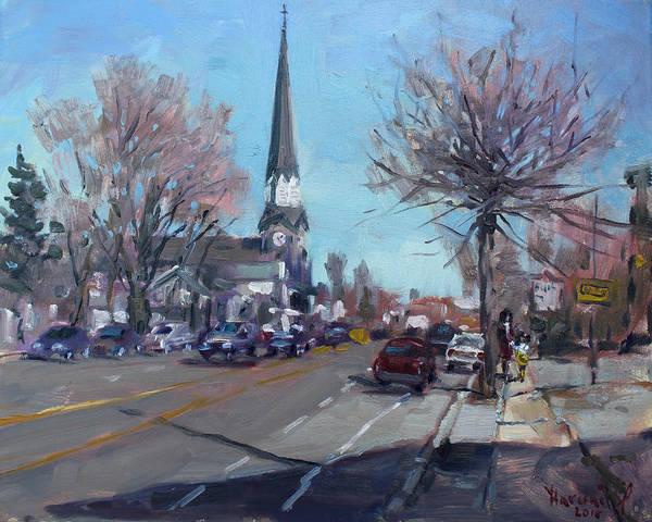 Main Street Wall Art - Painting - Main Street In Williamsville by Ylli Haruni