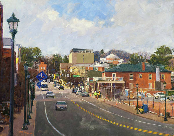 Wall Art - Painting - Main Street Looking Toward The Rotunda by Edward Thomas