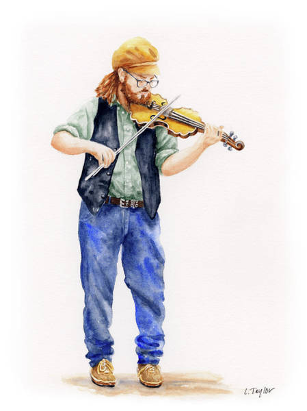 Painting - Main Street Minstrel 1 by Lori Taylor
