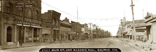 Photograph - Main Street, Salinas Circa 1910 by California Views Archives Mr Pat Hathaway Archives
