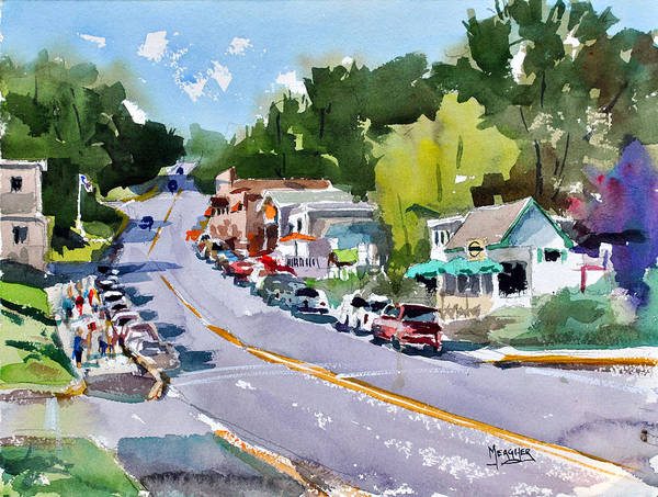 Wi Wall Art - Painting - Main Street Sister Bay Wisconsin by Spencer Meagher