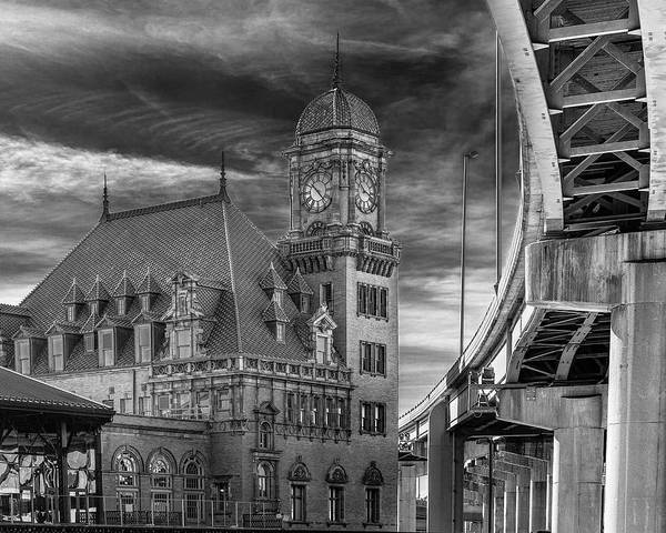 Photograph - Main Street Station Nw B W by Jemmy Archer