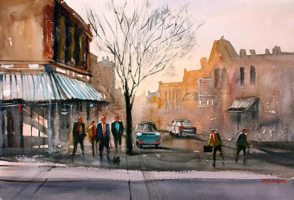 Wall Art - Painting - Main Street - Steven's Point by Ryan Radke