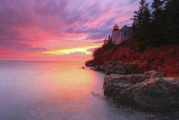 Photograph - Maine Acadia National Park Bass Harbor Head Light by Juergen Roth