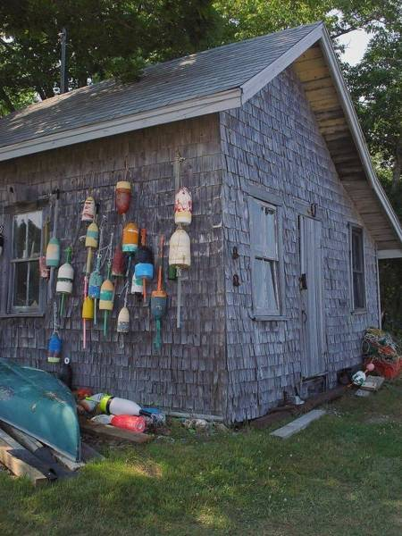 Laura Palmer Wall Art - Photograph - Maine Boat House by Laura Palmer