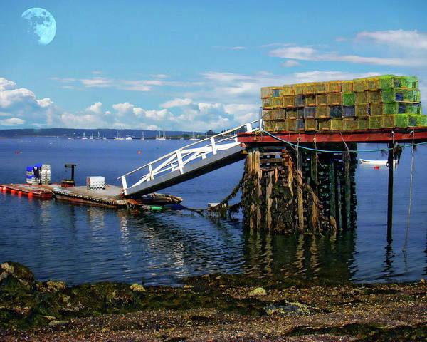 Photograph - Maine Coastal Scene by Anthony Dezenzio