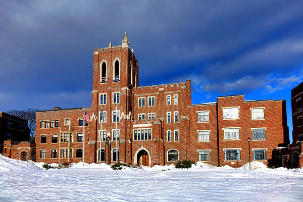 Wall Art - Photograph - Maine Criminal Justice Academy In Snow by Olivier Le Queinec