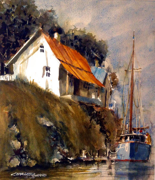 Painting - Maine Dock by Charles Rowland