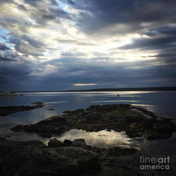 Photograph - Maine Drama by LeeAnn Kendall