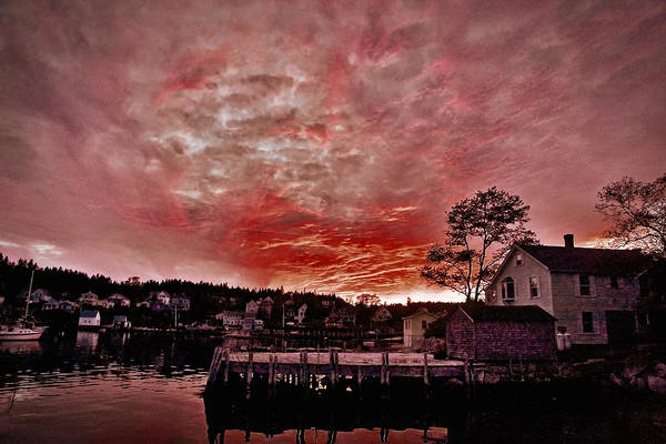 Photograph - Maine Harbor Sunset #3 by Stuart Litoff
