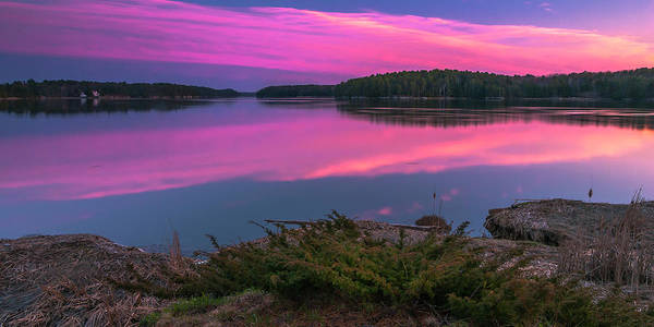 Photograph - Maine Kennebec River Sunset Panorama by Ranjay Mitra