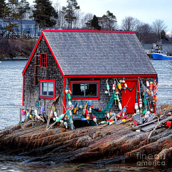 Wall Art - Photograph - Maine Lobster Shack by Olivier Le Queinec