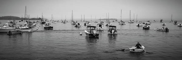 Photograph - Maine Misty Winter Morning At Falmouth Harbor by Ranjay Mitra