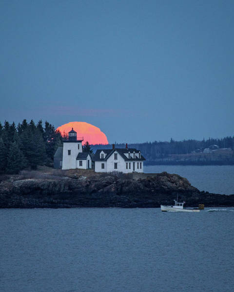 Wall Art - Photograph - Maine Moonrise by Benjamin Williamson