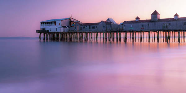 Photograph - Maine Oob Pier At Sunset Panorama by Ranjay Mitra