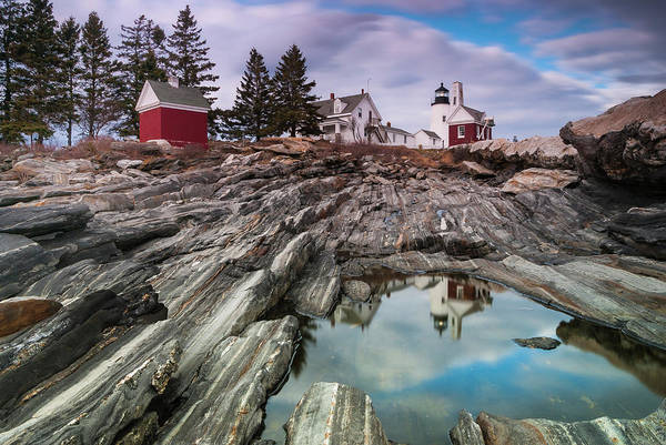 Art Print featuring the photograph Maine Pemaquid Lighthouse Reflection by Ranjay Mitra