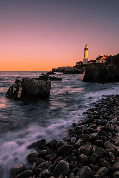 Photograph - Maine Portland Headlight Sunset by Ranjay Mitra