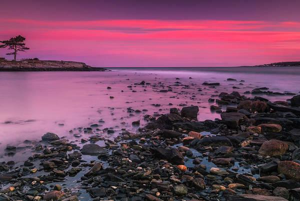 Photograph - Maine Rocky Coastal Sunset In Portland by Ranjay Mitra