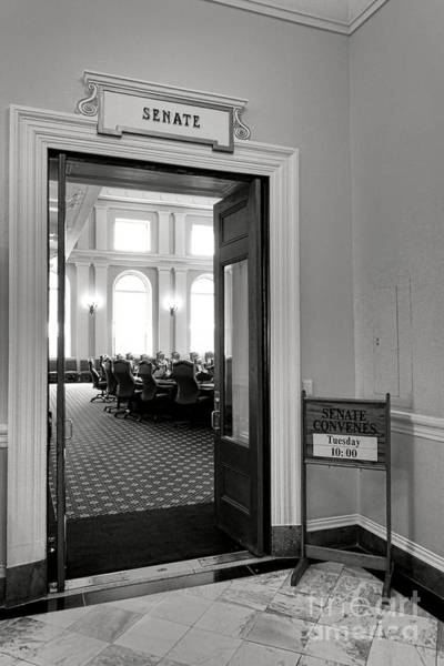 Photograph - Maine Senate Chamber Doorway by Olivier Le Queinec