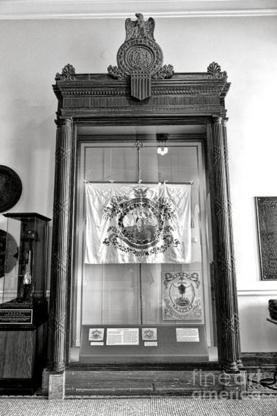 Photograph - Maine State Capitol Hall Of Flags Militia Display Case by Olivier Le Queinec