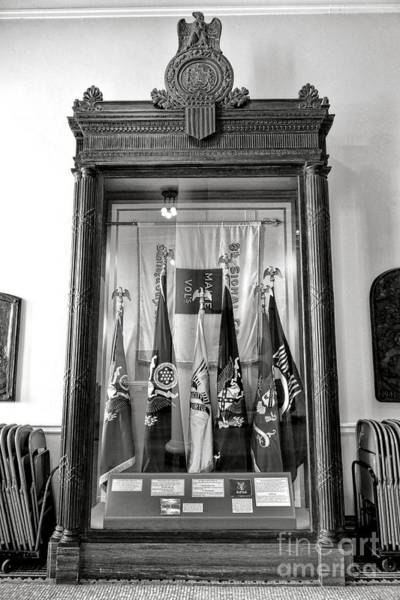 Photograph - Maine State Capitol Hall Of Flags Modern Conflicts Display Case by Olivier Le Queinec