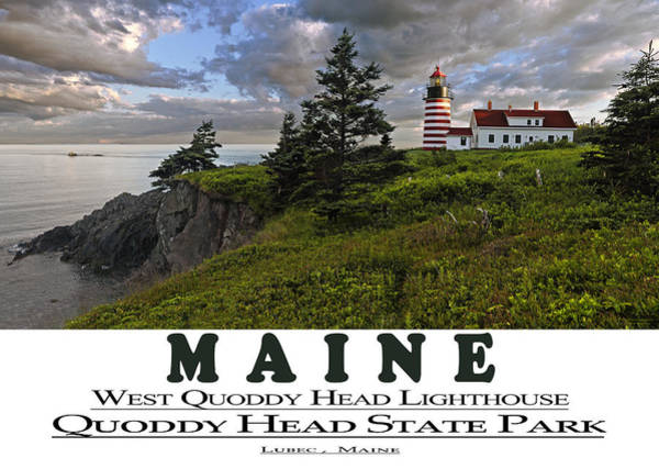 Photograph - Maine West Quoddy Head Lighthouse by Marty Saccone