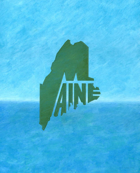 Drawing - Maine Wordplay by Dominic White