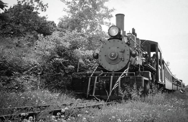 Wall Art - Photograph - Maine's Narrow Gauge Railway Bw  by Debra Forand