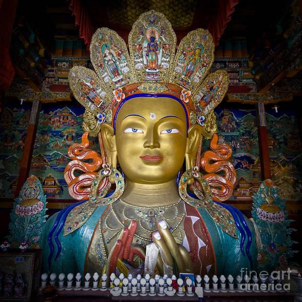 Photograph - Maitreya Buddha by Hitendra SINKAR