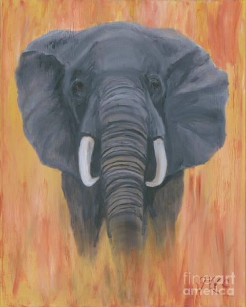 Wall Art - Painting - Majah- The Elephant by Gloria Condon