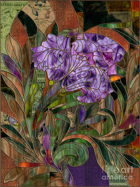 Stained Glass Painting - Majani by Mindy Sommers