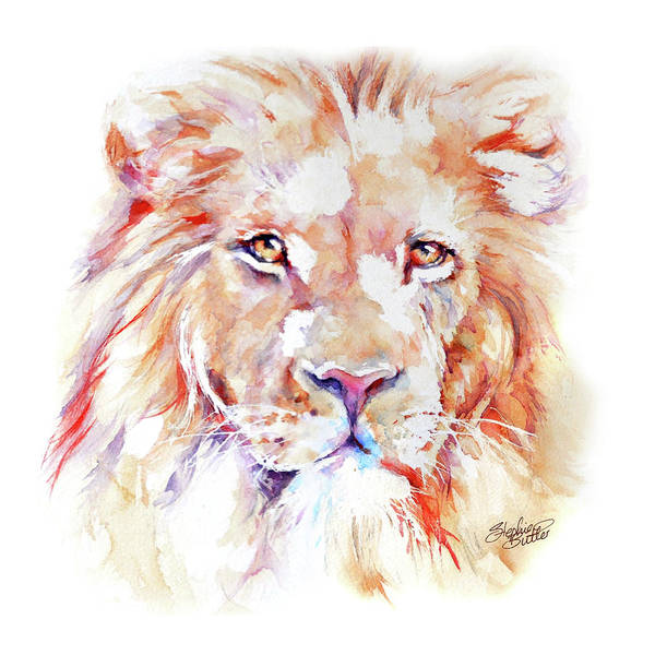 Big Five Painting - Majestic African Lion by Stephie Butler