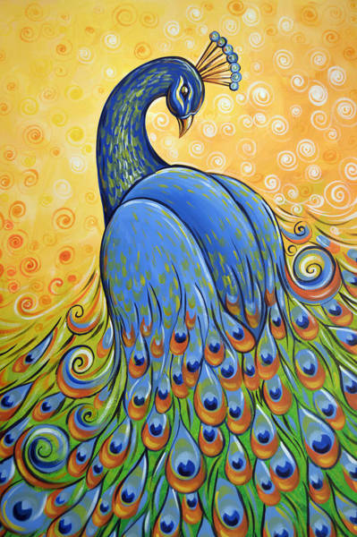 Peafowl Painting - Majestic by Amy Giacomelli