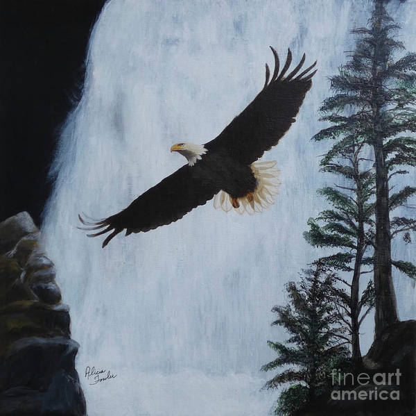 Painting - Majestic Bald Eagle by Alicia Fowler