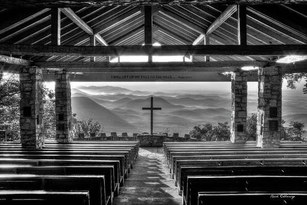 Photograph - Majestic Beauty B W Pretty Place Chapel Bw Symmes Chapel Art by Reid Callaway